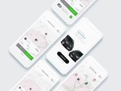 Carpooling App minimalist design minimalistic layout ui  ux ui mobile carpool carpooling