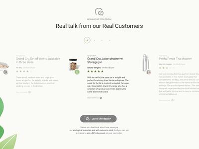 Avocango - Testimonials testimonial ui ux design layout minimalist landing page