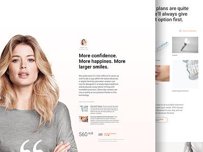 Dental Website /09 - work in progress case study dental landing page layout