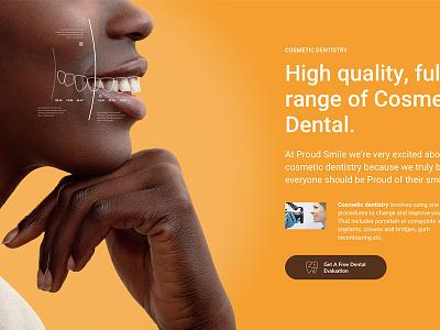Dental Website /08 - work in progress dental landing page layout