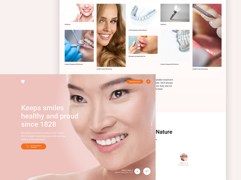 Dental Website /02 - work in progress minimalist sketch layout user interface woman ux ui responsive minimalistic landing page dental call to action website landing hero design