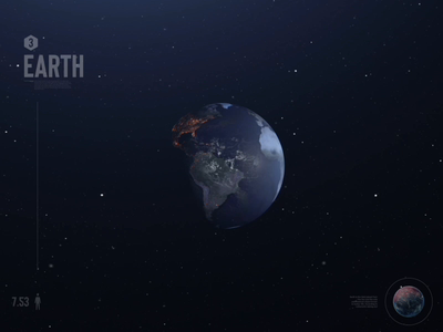 Earth (Pamant) 1 space animation earth 3d aftereffects