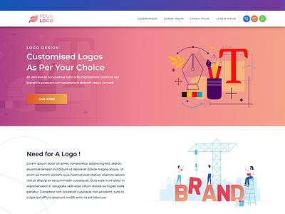 Website Page web page design vector typography ux illustration web design branding logo graphic design ui