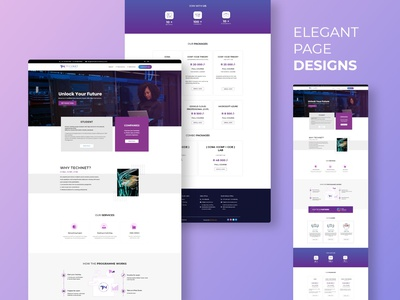 A New Elegant Design For Technet Consultancy php java script xd designs adobe xd home page landing page web design design branding typography ux wordpress elementor web development graphic design ui