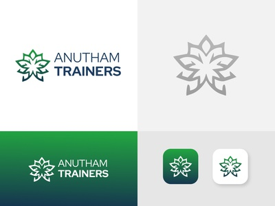 Brand Identity For Anutham Trainers typography design vector illustration graphic design logo branding