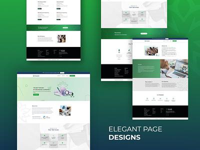 New Web Page Design illustration elementor wordpress web development education education page design elegant designs typography design ux web page design branding logo graphic design ui