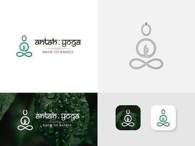 Logo Design For AntahYoga latest logo design logo concept ux design ui design 3d logo vector illustration typography branding ui design graphic design yoga logo hand logo logo design logo