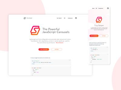 Tiny Swiper design web branding