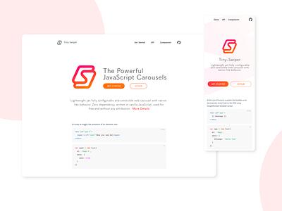 Tiny Swiper logo web branding