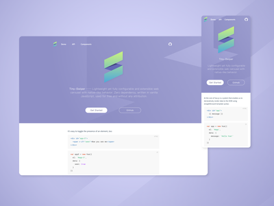 Tiny Swiper web branding design