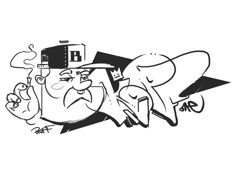 graffiti sketch by daniel bkopf dribbble dribbble