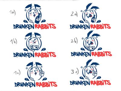 Drunken Rabbit Sketch1 drunken rabbit character bkopf doodle keyvisual logo sketch