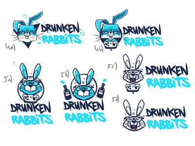 Drunken Rabbit Sketch2 drunken rabbit character bkopf doodle keyvisual logo sketch