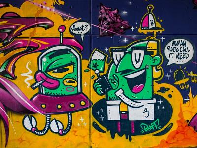 graffiti ingolstadt graffiti space professor alien characterdesign character bkopfone bkopf