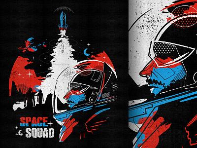 Ssq Invader characterdesign bkopf space astronaut invader tee silkscreen fashion