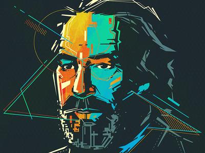 Portrait vector character illustration portrait bkopfone bkopf