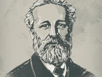 Jules Verne digital art portrait julesverne character bkopfone bkopf