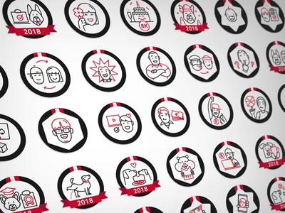 Icon Pack Bejond linear icons lineart character icons bkopfone bkopf