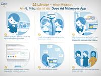 Infografik dove ad makeover App