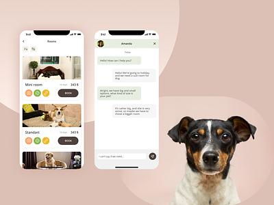Pets hotel App app mobile visual design ux ui