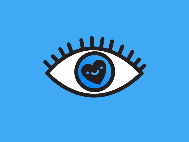 Eye Heart You weird illustration eye heart kawaii eyeball