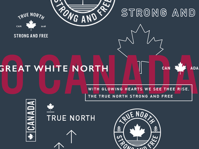 Canada Type great white north true north maple leaf canada typography logo badge mark