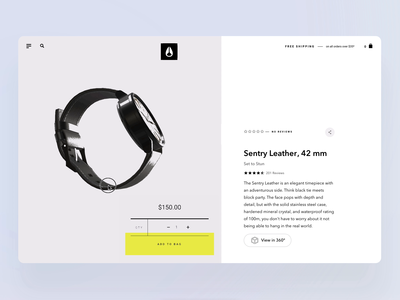Product page for Watch