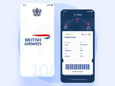Redesign British Airways app eticket british airways british travelling travel app travel booking system booking.com booking app booking mobile minimal app product interface clean design ux ui