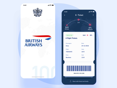 Redesign British Airways app
