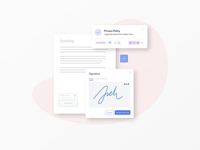 eSignature solution dribbble dailyui product design product website minimalism mobile ui design uidesign uiux signature typeface signature web interface clean design muzli ui ux