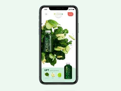 Healthy app design mobile ios14 ios app product design product page juice app animations animation muzli ui ux health care health app healthy health
