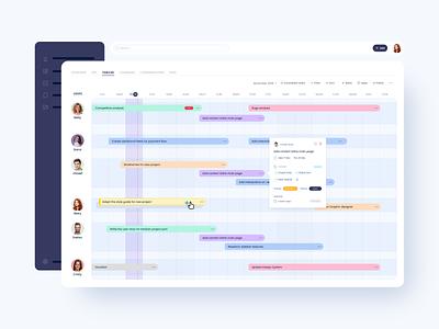 Timeline ui webapp app product project project management ux users menu bar progress bar tasks timeline