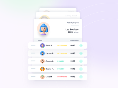 Activity reports cards ui cards mobile app mobile minimal app interface productdesign products product ui ux time tracking time tracker timer time teamwork teams team report