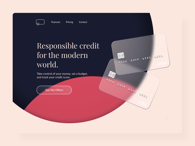 Credit card glass glassmorphism design button minimal clean muzli ui startscreen web design website web