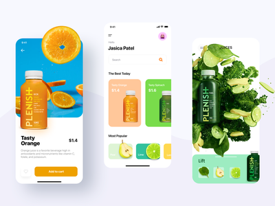 Tasty and healthy juices product orange juice orange ios app ui ux fitness center fitness club fitness app fitness sport healthy eating healthy lifestyle healthy food healthyfood healthy tasty