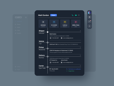 Logistic dashboard notification search cargo product interface light mode dark mode web application app saas dropdown analysis data visualization card dashboad logistic