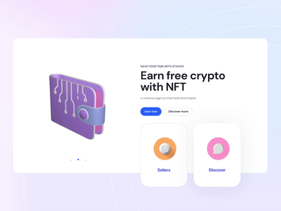 NFT wallet animation animations giff illustration web product design interface muzli clean ux ui free discover seller animation wallet crypto