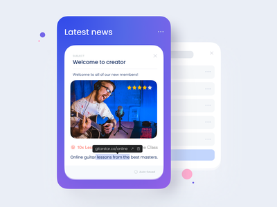 News card app product designsystem component interface tooltip rating card news