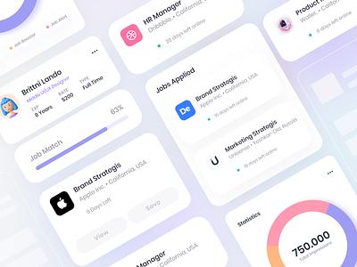 UI jobs card crm saas job ui ux design product web interface clean
