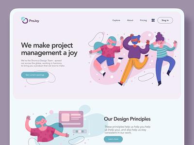 Web logo design clean ui management project creative button illustration landing web