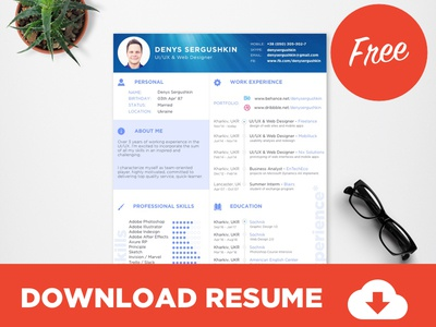free resume template download psd sketch - Free Resume Download Templates
