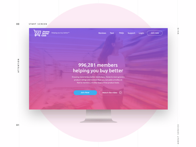 Home Tester Club muzli interaction layout tester website simple shopping homepage retail gradient branding