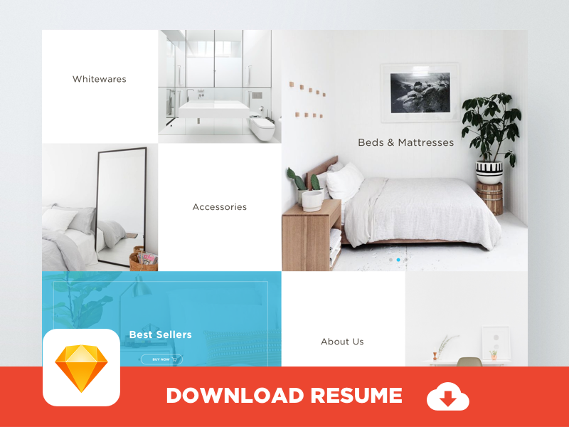 FREE Home Page in Sketch format muzli mockup template clean responsive web download minimal home page freebie free sketch
