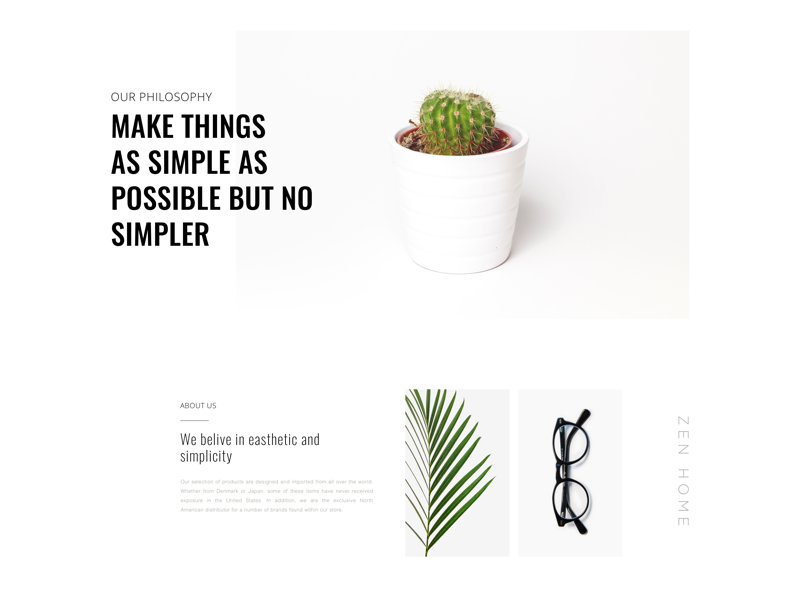About page 🔥 muzli zen white web ui glass product art minimal plants guidelines design clean