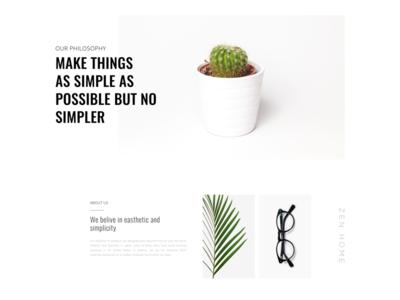 About page 🔥 muzli zen white web ui glass product art minimal plants guidelines design clean