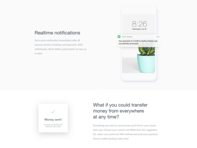 👀 Realtime Notification muzli typography simple navigation fin tech minimal layout grid ecommerce mobile ios app notification