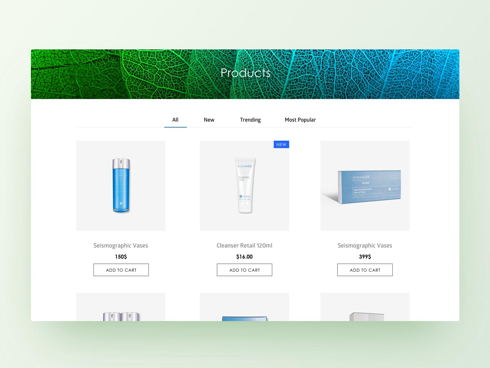 Product list 1x