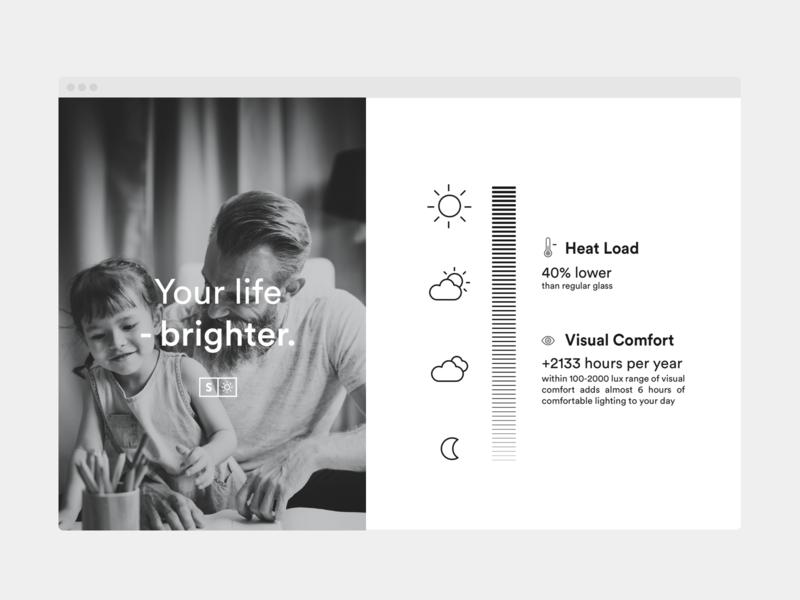 Tint Level white gradient mobile web design interface product minimal website infographic design clean design ux web ui visual art visual level sun tint muzli