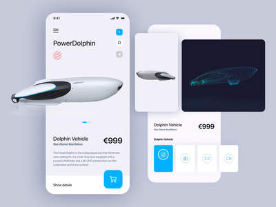 🛰 Power Dolphin app mobile ui dolphins mobile application mobile app development mobile app design mobile apps mobile app web mobile app minimal product interface clean ui ux muzli
