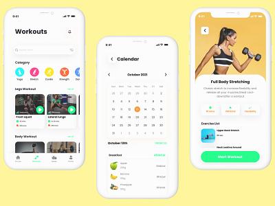 PowerZero-Fitness App ui